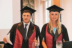 eufom Absolventen Nikolas Heinrichs und Julia Ebmeyer