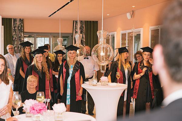 Verabschiedung der eufom Absolventen im Café Reitschule