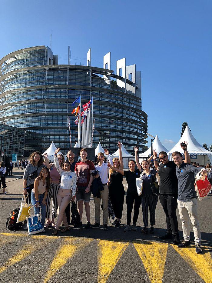 eufom Studierende in Straßburg European Youth Event EYE 2018